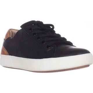naturalizer Morrison Low Rise Fashion Sneakers, Black Leather (Option: Extra Wide)