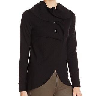 Kensie NEW Black Women's Size XL Drippy Ruffle Ponte Knit Tulip Jacket