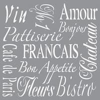 "French Living - Americana Decor Stencil 12""X12"""
