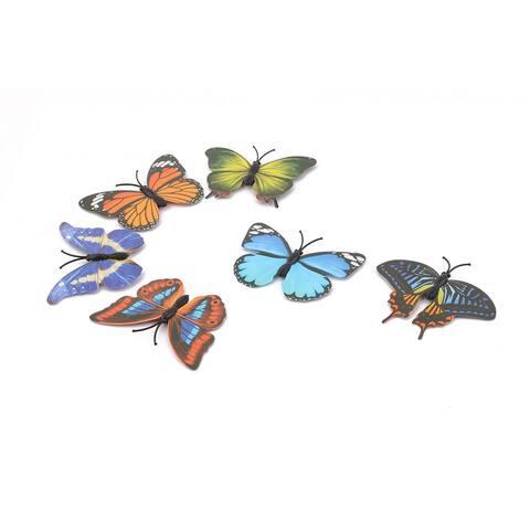 Unique Bargains Household Fridge Plastic Bulletin Board Butterfly Design Magnet 6 Pcs