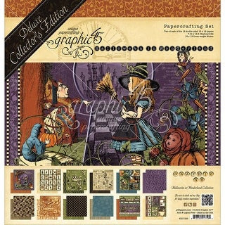 "Graphic 45 Deluxe Collector's Edition Pack 12""X12""-Hallowe'en In Wonderland"