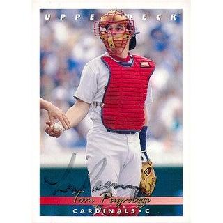 Signed Pagnozzi Tom St Louis Cardinals 1992 Upper Deck Baseball Card Light Signature autographed