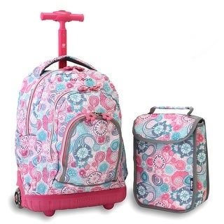 J World New York Lollipop Kids' Rolling Backpack with Lunch Bag