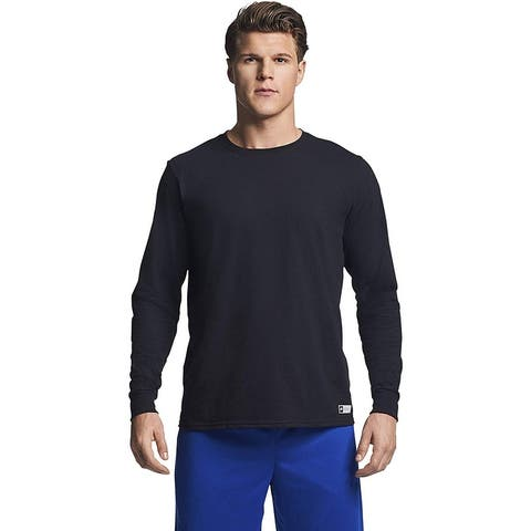 Russell Athletic Men's Essential Long Sleeve Tee, Black, M, Black, Size Medium