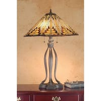 Meyda Tiffany 66226 Stained Glass / Tiffany Table Lamp from the Mission Collection - tiffany glass - n/a