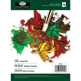 """Essentials Oil Color Artist Paper Pad 5""""X7""""-17 Sheets"""