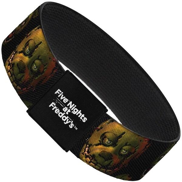 "Springtrap Freddy 2 Expressions Black Elastic Bracelet 1.0"" Wide"