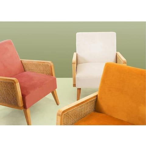 Carson Carrington Yppersbyn Upholstered Velvet Accent Chair