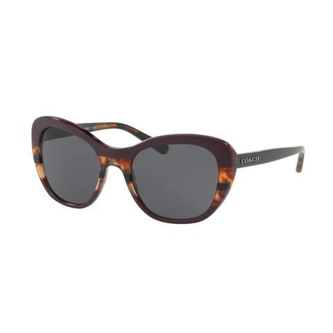 Coach Women's HC8204 547887 52 Dark Grey Solid Plastic Cat Eye Sunglasses