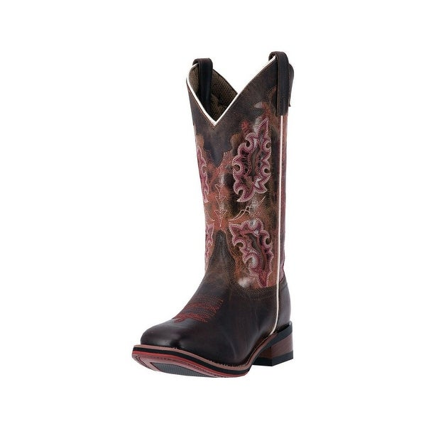 "Laredo Western Boot Womens 11"" Stockman Heel Brandy Distressed"