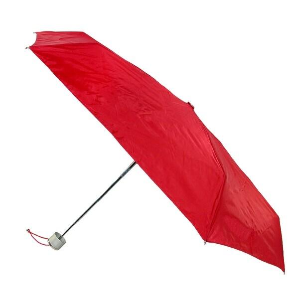 Totes Manual Mini Solid Color Travel Compact Umbrella
