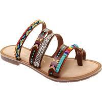 Chinese Laundry Women's Pandora Toe Loop Sandal Tan Multi Leather
