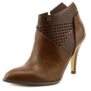 Carlos by Carlos Santana Larisa Women Pointed Toe Leather Brown Bootie