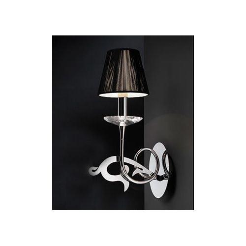 Mantra Lighting 379 Acanto 1 Light Wall Sconce - Polished chrome