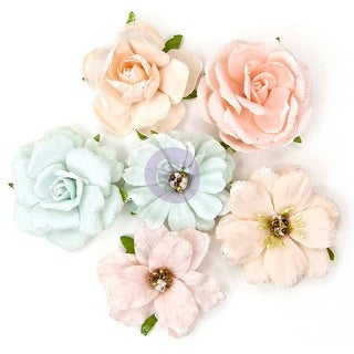 "Love Story Paper Flowers-Princess, 2"" 6/Pkg"