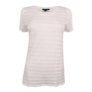 Tommy Hilfiger Women's Emery Striped T-Shirt - Snow White