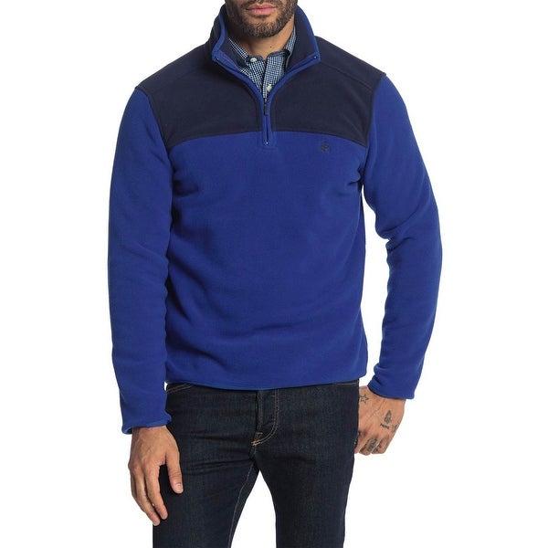 Brooks Brothers Mens Colorblock Quarter Zip Polar Fleece Pullover S Blue/Navy. Opens flyout.