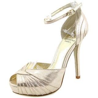 Adrianna Papell Rebecca Open Toe Canvas Platform Sandal