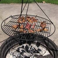 Sunnydaze Black Fire Pit Cooking Grate for Grilling - 24-Inch Diameter - Black|Black