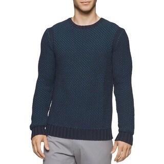Calvin Klein Mens Pullover Sweater Textured Crew Neck