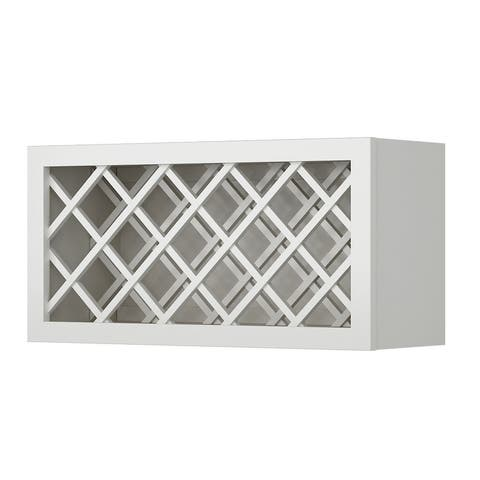 """Sunny Wood SLW3015WR Sanibel 30"""" x 15"""" Wine Bottle Rack Wall Cabinet - Off White with Charcoal Glaze"""