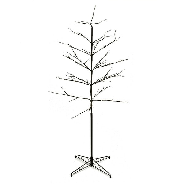 6' LED Lighted Color Combo Christmas Twig Tree Outdoor Decoration - brown
