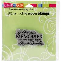 "Stampendous Cling Stamp 4.75""X4.5""-Memories"