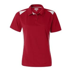 Augusta Sportswear Women's Two-Tone Premier Sport Shirt - Red/ White - S