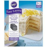 """6""""X6"""" - Easy Layer Square Cake Pan 4Pc"""