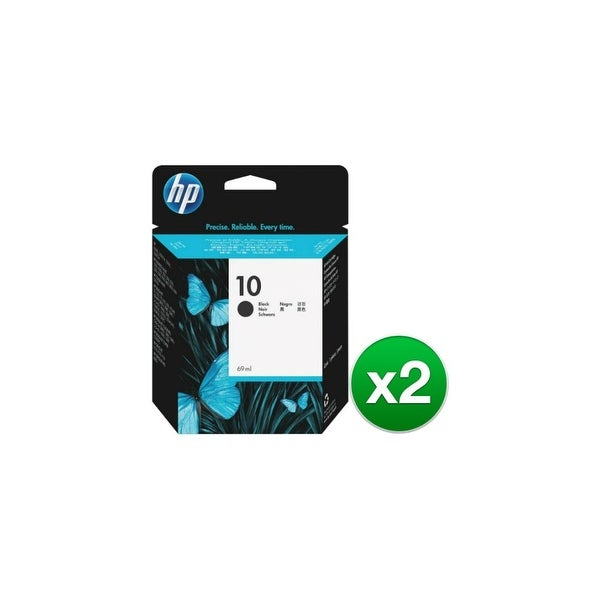 HP 10 Black Original Ink Cartridge (C4844A) (2-Pack)