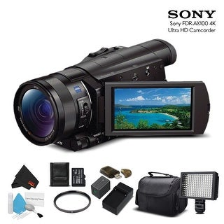 Sony FDR-AX100 4K Ultra HD Camcorder (Intl Model) With 16GB Memory Card, Extra Battery