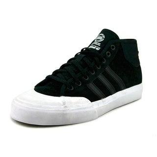 Adidas Matchcourt Mid Men  Round Toe Suede Black Sneakers