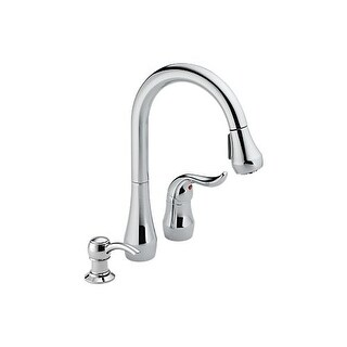 Peerless P188102LF-SD Kitchen Faucet with Single Lever Handle, Pullout Spout and