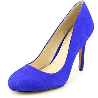 Jessica Simpson Rachel Women Round Toe Suede Blue Heels