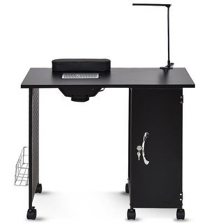 Link to Gymax Manicure Nail Table Station Black Steel Frame Beauty Spa Salon Similar Items in Nail Care