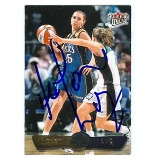 Helen Luz Autographed Basketball Card Washington Mystics 2002 Flee