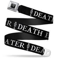 Harry Potter Logo Full Color Black White Death Eater Dark Mark Black White Seatbelt Belt