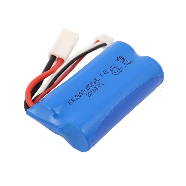 DC 7.4V 1500mAh Rechargable Lithium Battery Pack for RC Airplane Blue