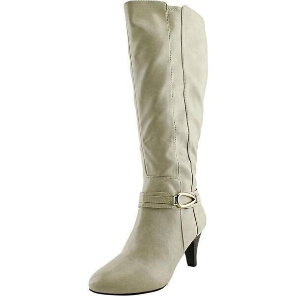 Karen Scott Womens Holdenn (Wide Calf) Leather Almond Toe Mid-Calf Fashion Bo...
