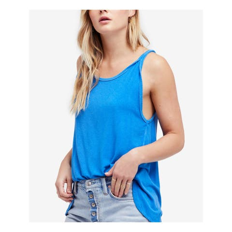 FREE PEOPLE Womens Blue Atlantic Tank Sleeveless Top Size S