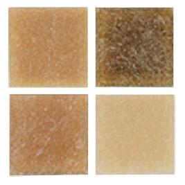 Mosaic Mercantile Authentic Glass Mosaic Tiles, 3/8 Inch, Earth Colors, 1 Pound Bag