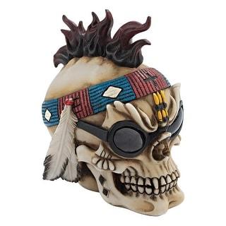 Design Toscano Halloween  Thunderspirit Goth Biker Skull Statue