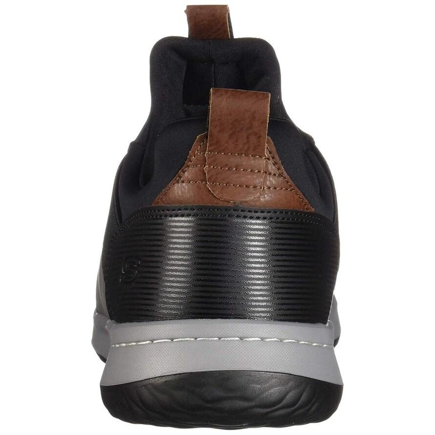 Skechers Men's Classic Fit Delson Camden Sneaker, BlackGrey, 11.5