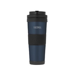 Thermos Vacuum Insulated 18 Ounce Stainless Steel Travel Tumbler (Midnight Blue)