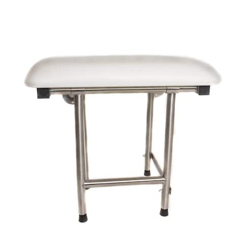 ADA Compliant Folding Padded 22 x 16-inch Shower Seat with Swing Down Legs