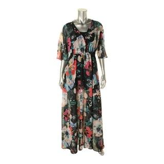 French Connection Womens Floral Print Surplice Maxi Dress - XXS