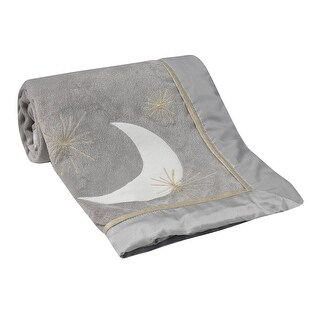 Lambs & Ivy Signature Goodnight Giraffe Moonbeams Gray Minky Celestial Baby Blanket