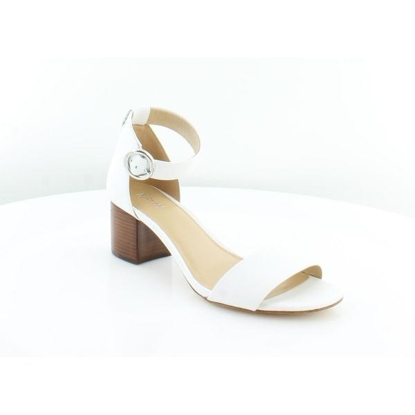 Michael Kors Lena Mid Women's Heels White - 8