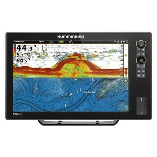 "Humminbird SOLIX 15 CHIRP GPS Combo 15.4"" Color TFT Display Fishing System - MEGA Side Imaging"