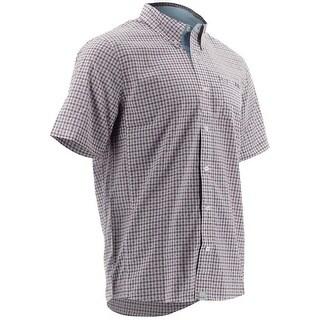 Huk Men's Santiago Dahlia Small Short Sleeve Button-Up Shirt